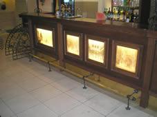 Кованый декор для барной стойки.