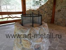 защитная сетка экран на очаг камин