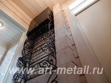 Кованая этажерка, полка для обуви.