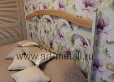 wrought iron bed.