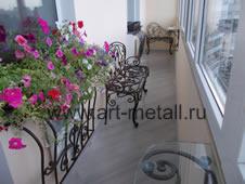 Кованая мебель на балкон.