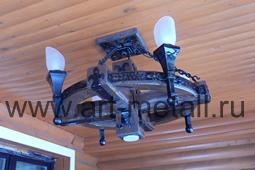 Wood chandelier