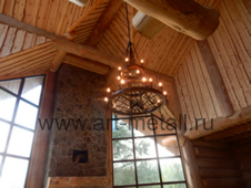 wrought iron wagon wheel chandelier
