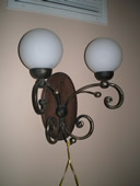 wood sconce