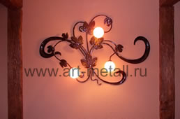 Forged wall lamp