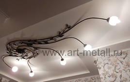 Ceiling forged lamp