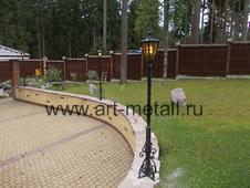 Forged garden lantern