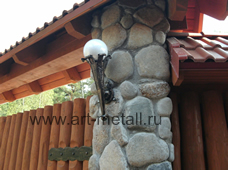 Wrought iron out door torch lantern