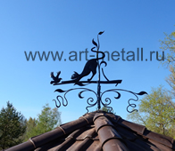 wrought iron windvane