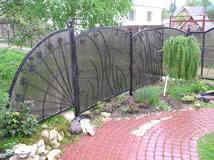 Кованый забор. Пластик.