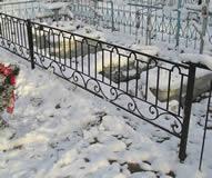 Кованая могильная решетка.