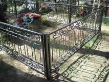 Кованая решетка на могилу.