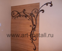 Wrought iron hanger.
