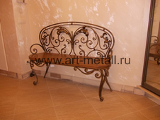 Wrought iron furniture.