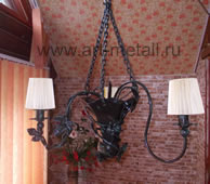 Floral style chandelier.