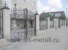 wrought iron gates, fences, balcony.