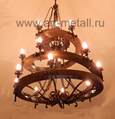 wrought iron chandelier wagoon wheel style
