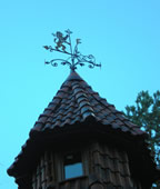 wrought iron windvane.